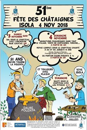 Fête des Châtaignes 2018 à Isola Village
