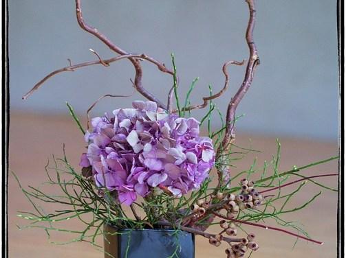 Démonstration d'art floral japonais à Nice