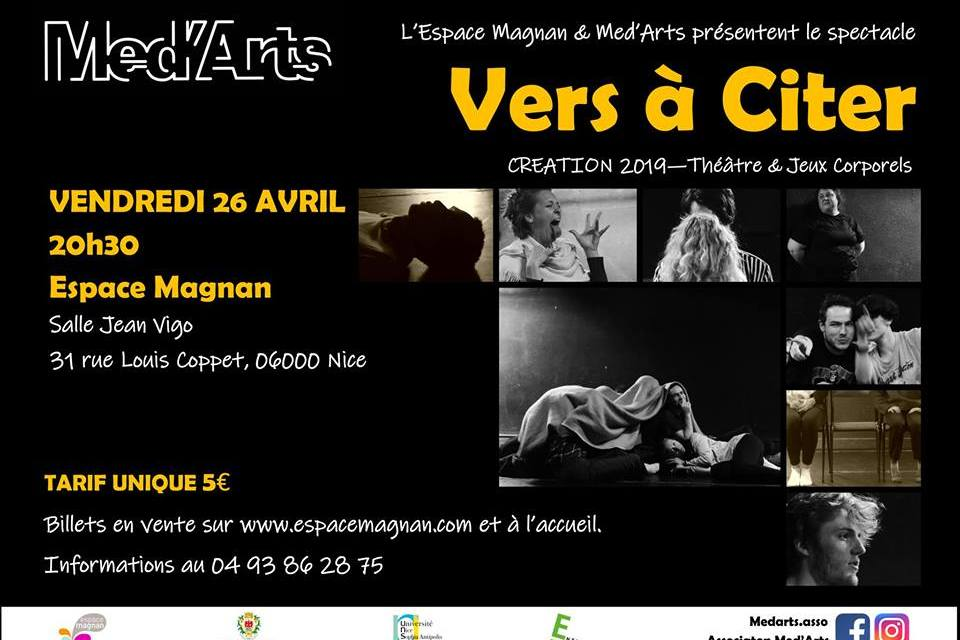 VERS À CITER – Association Med'Arts à Nice