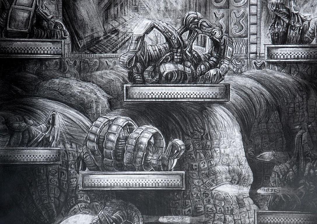 Carambolage au marché d'Anvers, Exposition de Quentin Spohn