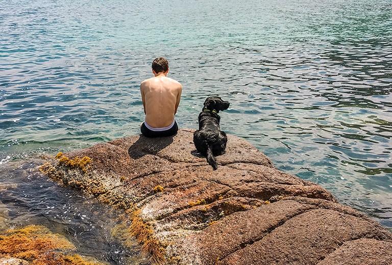 Zusammen am Meer die Seele baumeln lassen