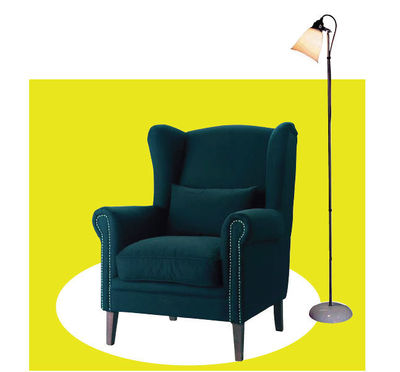 fauteuil lampe a pied lecture