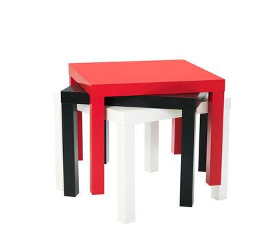 des tables basses en couleur pour