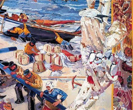 Détail d'une tapisserie, manufacture des Gobelins, 1939-1946.