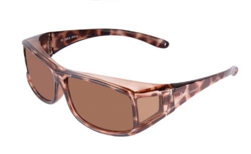 Rapid Eyewear SUR-LUNETTES DE SOLEIL POLARISÉES FEMMES écaille de tortue, – pour course à pied, cyclisme, conduite, sport et loisirs. Lunettes solaires avec protection anti UV 400