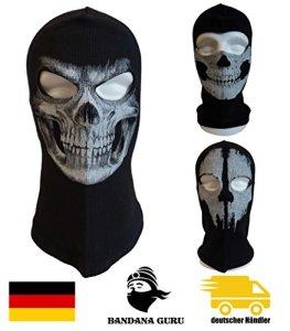 Bandana Guru Cagoules Fantômes Masque Crâne Masque de Ski Masque moto Masque de vent Masque de Snowboard pour Sport Extérieur Paintball (skull smile)
