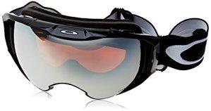 Oakley Airbrake Masque de Ski Mixte Adulte, Noir, EL. Adjustable