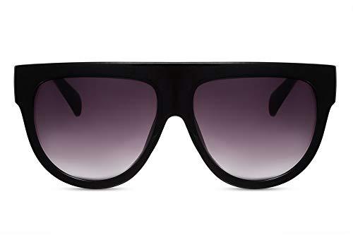 Cheapass Lunettes de soleil Noires Oversize XXL UV400 Lunettes Femmes