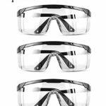 Awasa Lot de 3 paires de lunettes de sécurité anti-buée de qualité supérieure pour protéger les yeux – Lunettes de sécurité pour le lieu de travail – Noir