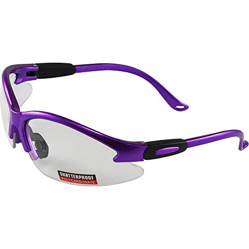 Global Vision cougar violet lunettes de sécurité avec verres clairs