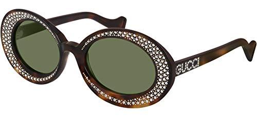 Gucci Lunettes de Soleil GG0618S HAVANA/GREEN 54/22/140 femme
