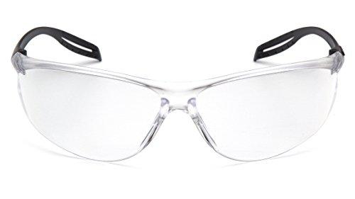 Pyramex Safety S9710st foire du Lunettes de sécurité, cadre noir clair, antibuée, verres transparents
