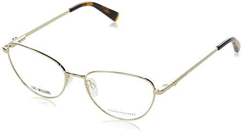 Lunettes de Vue Love Moschino MOL551 Pale Gold Silver 53/16/140 femme