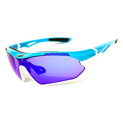 WANXJM Lunettes d'équitation polarisées, Lunettes de vélo de Montagne, Lunettes de Golf, Coupe-Vent et Anti-poussière, pour Le Cyclisme, la Course et Le Ski,5#