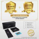 CGID Lunettes de Soleil Femme Polarisées Retro Grand Cadre Designer surdimensionné Protection UV400 Avec Strass MJ85