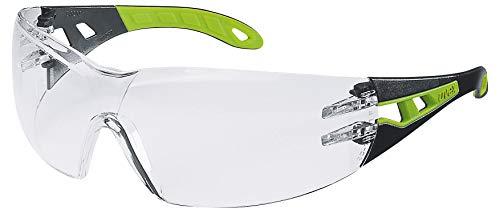 Uvex Lunettes de Protection Pheos | Oculaire PC Incolore | Certifiées NF en 166 170 | Lentilles Antibuée | Résistantes aux Rayures – Produits Chimiques | Protection anti-UV400 | Légeres