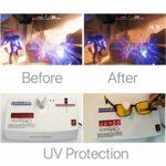 Lunettes de protection pour ordinateur – Anti-lumière bleue – Anti-éblouissement – Anti-fatigue – Bloque les UV et les maux de tête – Anti-fatigue oculaire – Jaune – taille unique