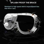 Lunettes de Sécurité – Lunettes de Protection Anti-buée Lunettes de Sécurité Protection des yeux avec Lentilles Larges Transparentes