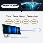 Lunettes surdimensionnées ultra-légères carrées anti-lumière bleue pour hommes et femmes ordinateur lunettes claires noir brillant