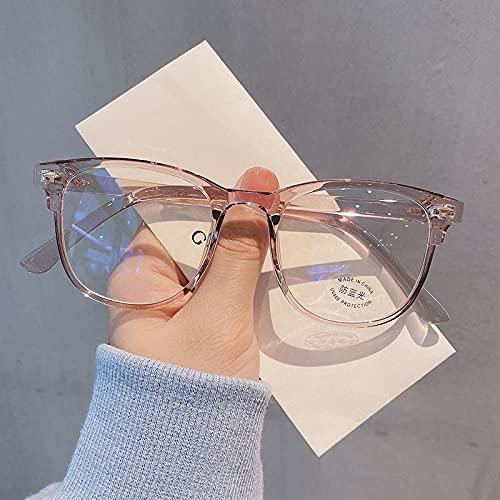 TEYUN Cadre d'ordinateur Transparent Cadre Femmes Hommes Anti Blue Light Rond Syeewear Blocking Lunettes Optique Spectacle Lunety (Color : Pink)