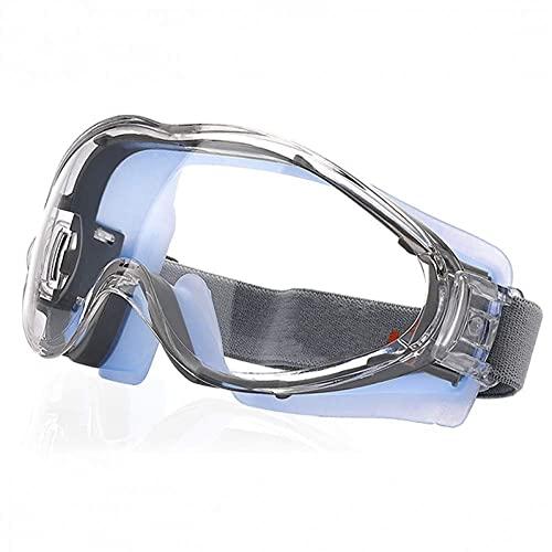 Adesign Lunettes de sécurité anti-brouillard – Verres de sécurité résistantes à la résistance aux gratter pour hommes, oeil sur les lunettes de protection scellés sur des lunettes de bricolage, meulag