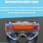 Adesign Verres Transparentes de sécurité  Poids léger, Anti-Brouillard, Shaterproof, sans Cadre, Vision Large, résistant aux Chocs, Transmittance Lumineuse, Protection des Particules Haute définition