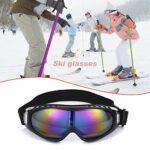 Hongyan Lunettes de ski de moto en plein air Snowboard hommes femmes lunettes de ski anti-buée masque de neige lunettes de skate lunettes de ski