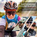 KAPVOE Lunettes de cyclisme photochromiques avec TR90 Lunettes de soleil de sport Femmes Hommes Course à pied Clair VTT Accessoires de vélo 07