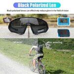 KAPVOE Lunettes de cyclisme polarisées avec 5 lentilles interchangeables pour hommes femmes Plein écran TR90 Léger MTB Sports Cycling Sunglasses 05