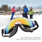 ROMACK Cadre imprimé de Lunettes Anti-buée Double Couche pour Le Ski(Cadre Blanc, Type d'amour)