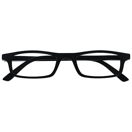 The Reading Glasses Lunettes de Lecture Noir Léger Lecteurs Designer Style Hommes Femmes Charnières Ressort R17-1 +1,50