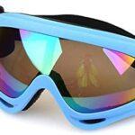 ZJJJD Masque De Ski X400 Protection Uv Sports Snowboard Ski Lunettes-rouge Et Coloré Adulte Enfant Lunette Piscine Lunette De Piscine Lunettes De Piscine