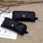 QLSGFBDIM Étui à crayons étui à lunettes Hook Lunettes Boîtiers PU Bouton Snap Hommes et Femmes Sunglasses de mode-Color1