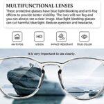 2 lunettes de sécurité anti-buée lunettes carrées lunettes de blocage de la lumière bleue pour femmes hommes (Blanc+rose)