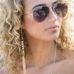 Bohend Mode Chaîne de lunettes de soleil Or Perles Femmes Chaîne de lunettes Perle Accessoires pour lunettes pour lunettes