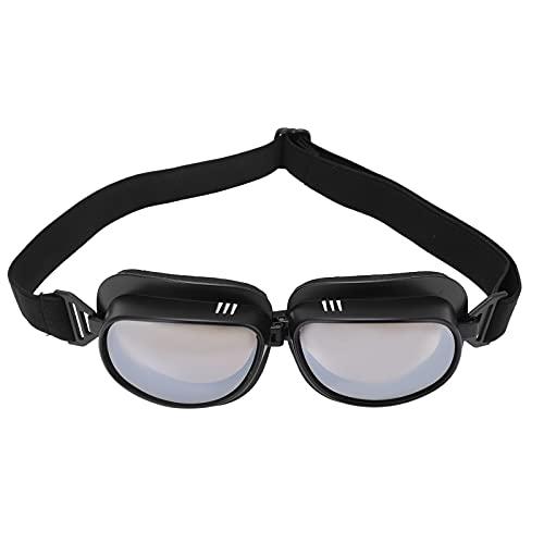 Lunettes de cyclisme, lunettes de style vintage coupe-vent anti-poussière lunettes anti-ultraviolets accessoires de moto
