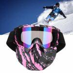 Lunettes de moto hommes femmes lunettes de motoneige Ski Snowboard hiver neige coupe-vent extérieur masque lunettes de soleil (rose) Lunettes de cyclisme Lunettes
