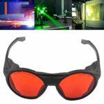 Lunettes de protection, confortables à porter des lunettes de sécurité avec chiffon à lunettes pour bloquer la lumière infrarouge