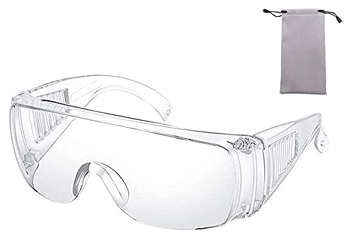Lunettes de sécurité Effacer Matériel de Protection individuelle Goggles Transparents UV Protection Adulte sur Lunettes Lunettes for la Construction, Laboratoire, Classe de Chimie