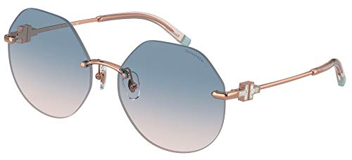 TIFFANY & CO. & Co. Lunettes de Soleil TIFFANY & CO. T TF 3077 Rose Gold/Blue Pink Shaded 60/17/140 femme