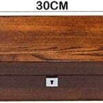 Yxxc Boîte de Montre en Bois Massif pour Hommes, boîte de Rangement pour Montre mécanique, Paquet de Cinq (Couleur : Marron)
