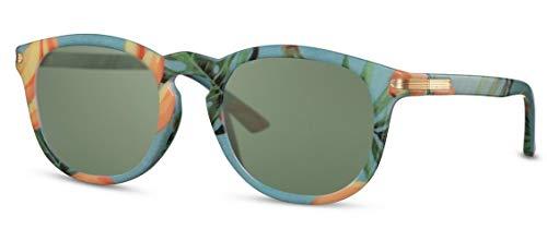 CWI Lunettes de soleil ovales pour femme catégorie 3 Bleu/vert