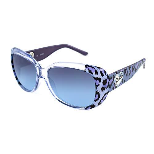 Guess GU7147-BL48 Lunettes de soleil, Bleu, 57/15/130 Femme