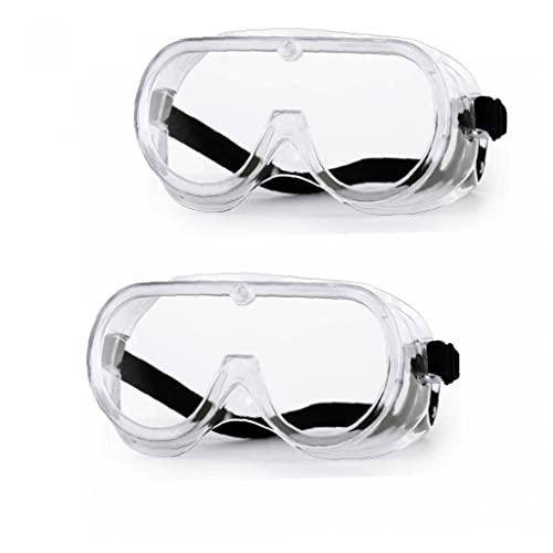 Hotaden Sécurité Guggle Bord Soft Soublage Splash Et Impact Resistant Guggle Clear Antic Anti-Brouillard Anti-Griffe De Protection Eyewear Economie Perfect Eye Protection 2pcs