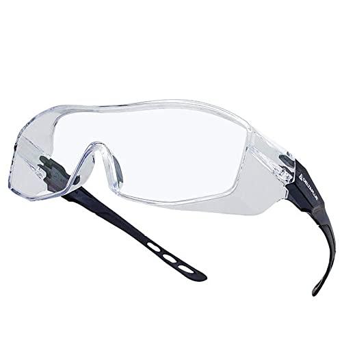 LIXFDJ 816 Lunettes transparentes anti-rayures, résistantes à la poussière, coupe-vent, verres en polycarbonate