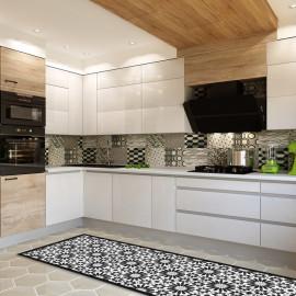 tapis de cuisine ciment gris tapis cuisine classique