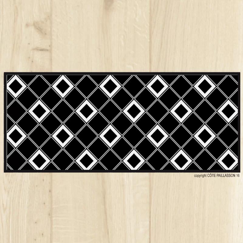 tapis de cuisine carreaux noir tapis petits carreaux noix