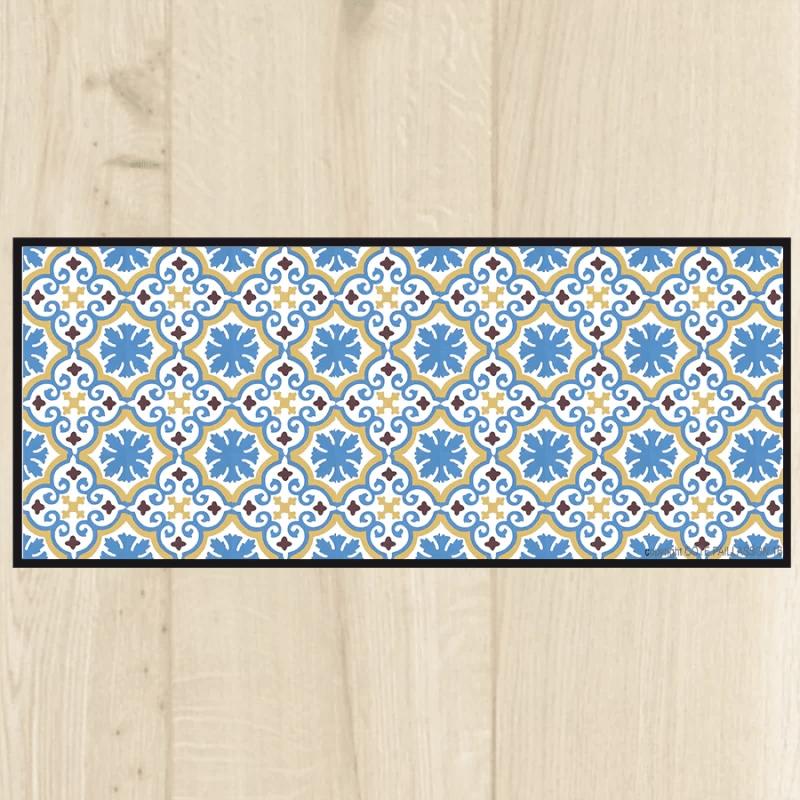 tapis cuisine bleu ciel tapis cuisine carreaux de ciment bleu