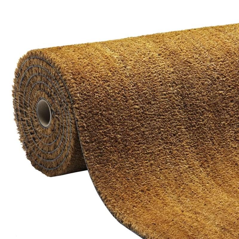 paillasson brosse coco au metre paillasson sur mesure couleur naturelle