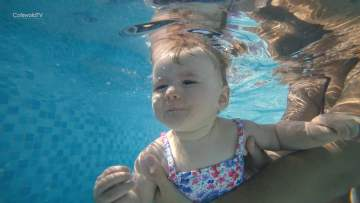 Baby Swimming at Cirencester Open Air Pool